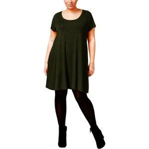 Style & Co Plus Size Short Sleeves Shift Dress